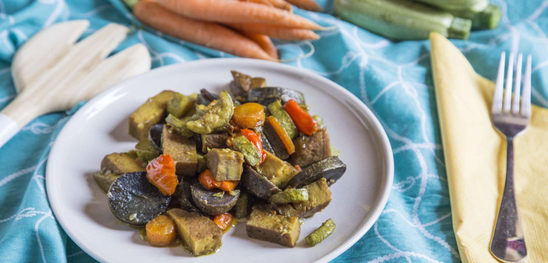 Seitan con verdure e curcuma - Cucinalabri