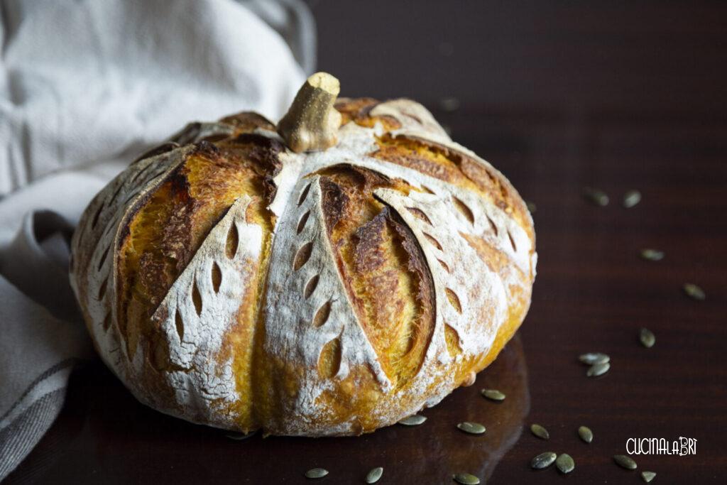 pane alla zucca con lievito madre